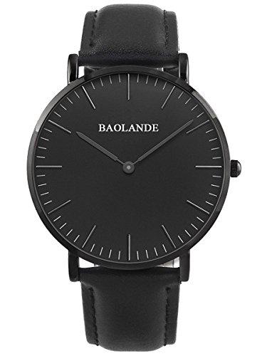 Alienwork Classic St Mawes elegant Quarzuhr Uhr modisch Zeitloses Design klassisch rose gold schwarz Leder U04816M 05