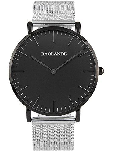 Alienwork Classic St Mawes elegant Quarzuhr Uhr modisch Zeitloses Design klassisch silber Metall U04916G 02