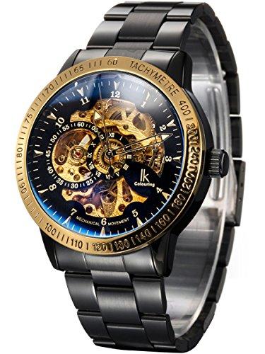 Alienwork IK mechanische Skelett Automatikuhr Uhr schwarz Edelstahl 98226 20