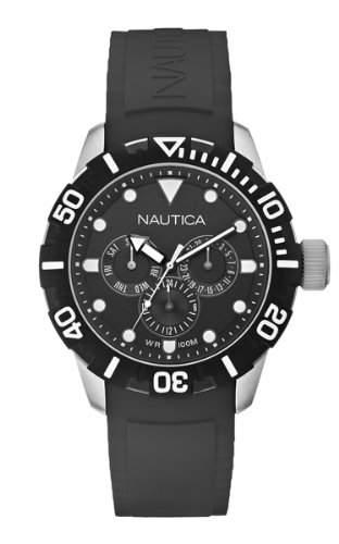 Nautica Unisex-Armbanduhr Chronograph Quarz Resin A13643G