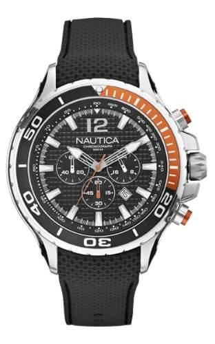 Nautica Herren-Armbanduhr Chronograph Quarz Resin A21017G