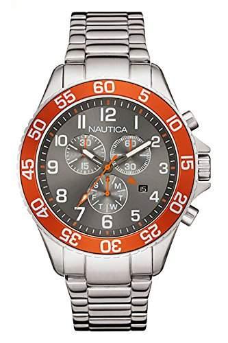 Nautica fuer Maenner -Armbanduhr Chronograph Quartz NAI17511G