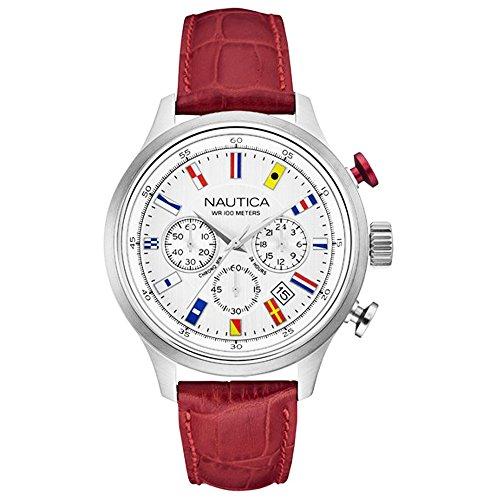 Nautica Armbanduhr Chronograph NAI16519G Silver Tone