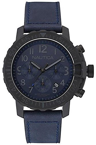 Nautica Armbanduhr Chronograph Quarz NAI21005G Blu