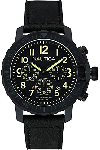 Nautica Armbanduhr Chronograph Quarz NAI21006G Nero