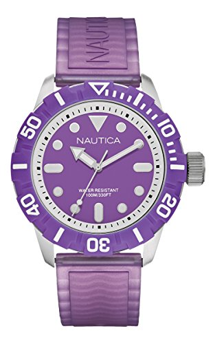 NAUTICA Armbanduhr A Sea of Color NSR 100 Purple A09606G