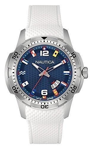 NAUTICA Armbanduhr NCS 16 Flags Blue and White NAI13514G