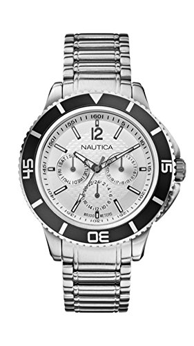 NAUTICA Armbanduhr NCS 450 Multifunction Silver and Steel A19593G