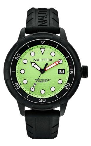 Nautica Herren A17618G Armbanduhr Analog Silikon Schwarz