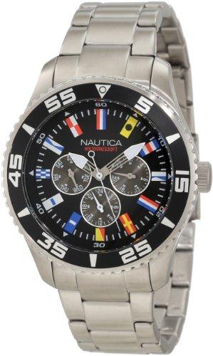 Nautica Herren Armbanduhr Analog Quarz Edelstahl N14631G