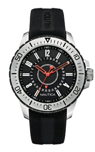 Nautica Herren Armbanduhr XL Analog Quarz Silikon A14661G