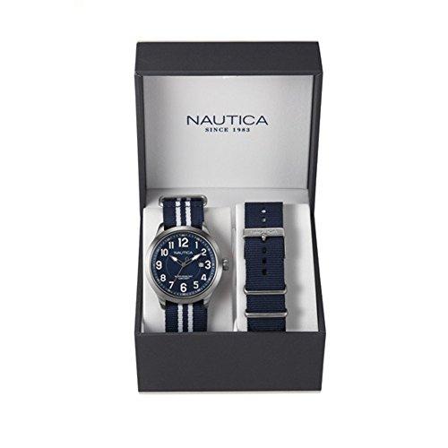 Nautica Herren Armbanduhr Analog Quarz Textil NAI11509G