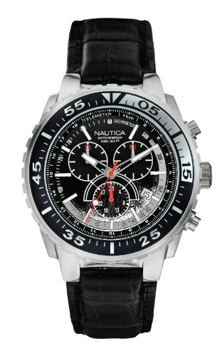Nautica XL Chronograph Quarz Leder A14678G