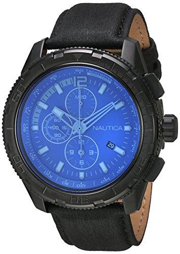 Nautica Chronograph Quarz Leder NAI21504G