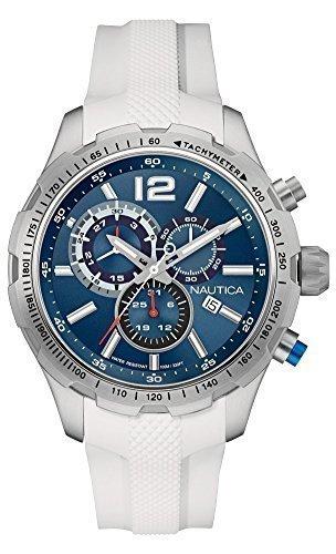 Nautica Herren Armbanduhr Chronograph Quarz Silikon NAI15511G