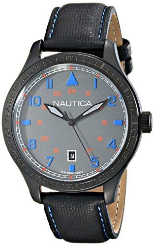 Nautica Herren n11110g BFD 105 Datum Analog Display Japanisches Quartz Black Watch