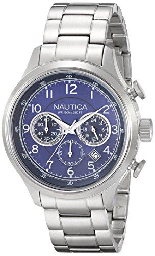 Nautica Herren n19630g NCT 16 Analog Display Japanisches Quartz Silber Uhr