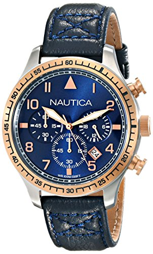 Nautica Herren nad17500g BFD 105 Chrono Analog Display Japanische Quarz blau Armbanduhr