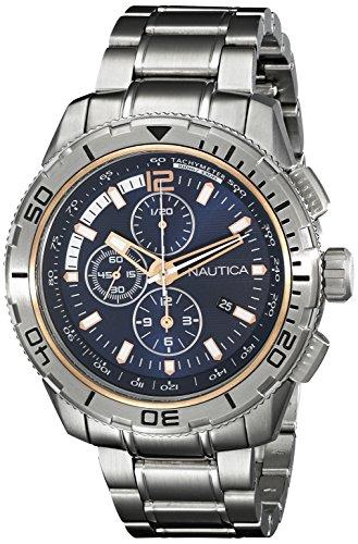 Nautica Herren nad24500g NST 101 Analog Display Japanisches Quartz Silber Uhr