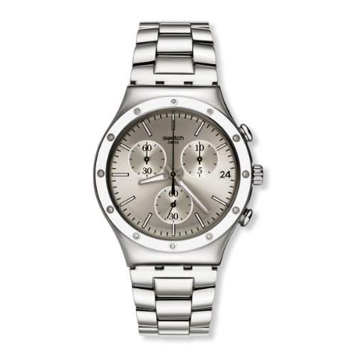 Swatch Damen-Armbanduhr Classic Potential Power Chronograph Quarz Edelstahl YCS570G
