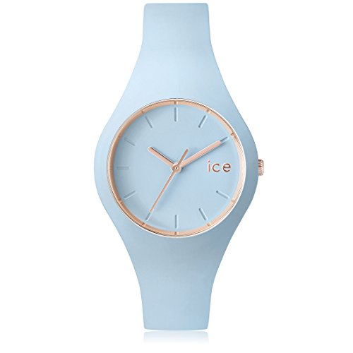 Ice Watch ICE glam pastel Lotus Blaue mit Silikonarmband 001063 Small