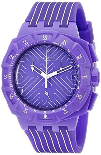 Swatch Damen-Armbanduhr Chrono Plastik 2 Purple Run SUIV401