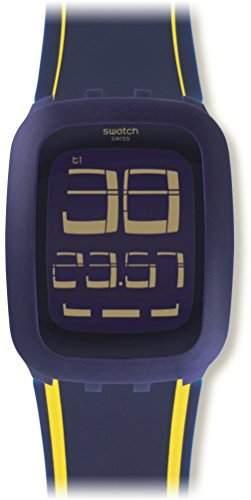 Swatch Unisex-Armbanduhr Digital Quarz Silikon SURN106