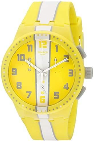 Swatch Unisex-Armbanduhr Chronograph Quarz Silikon SUSJ100