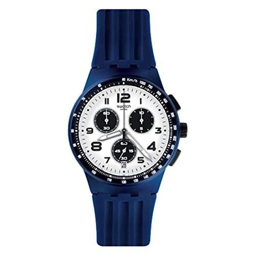 Swatch Herren-Armbanduhr Chronograph Quarz Silikon SUSN408