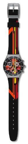 Swatch Unisex Armbanduhr Sign Out Analog Quarz Kautschuk YMS4009