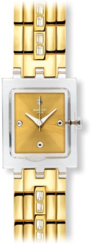 Swatch Damen Armbanduhr WHITE BARRETTE Analog Quarz Metall SUBK151G