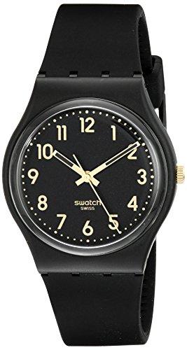 Swatch Analog Quarz One Size schwarz schwarz