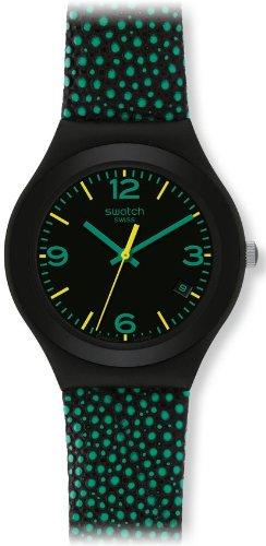 Swatch Damen Armbanduhr Green Drops YGB4003