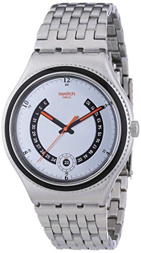 Swatch Herren Armbanduhr XL Irony Big Classic Beaulieu Analog Quarz Edelstahl YWS405G