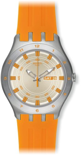 Swatch XL Irony New Big Apricotime Analog Quarz Silikon YTS712