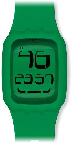 Swatch Unisex Armbanduhr Touch Green Digital Quarz Plastik SURG102