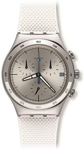 Swatch Damen-Armbanduhr Chronograph Quarz Kautschuk YCS584