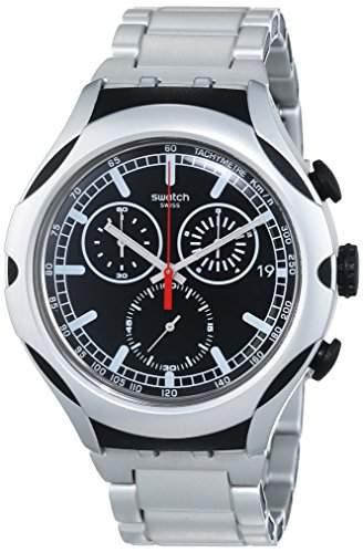 Swatch Herren-Armbanduhr BLACK ENERGY Chronograph Quarz Aluminium YYS4000AG