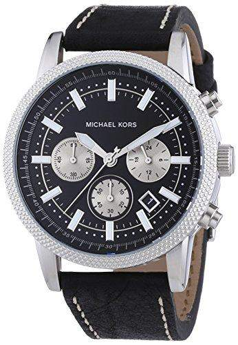 Michael Kors Herren-Armbanduhr XL Chronograph Quarz Leder MK8310