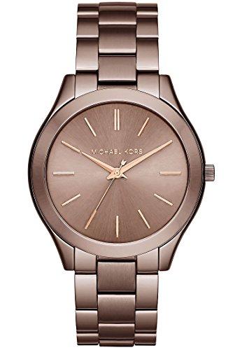Michael Kors Damen Armbanduhr Analog Quarz One Size braun braun