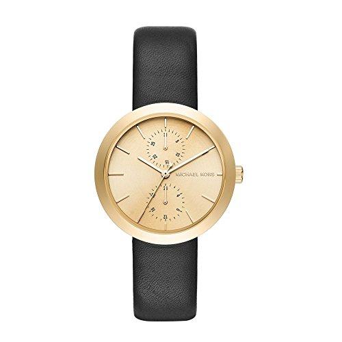 Michael Kors Damen Armbanduhr Analog Quarz One Size champagner schwarz
