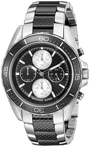 Michael Kors Herren Armbanduhr Analog Quarz One Size schwarz silber