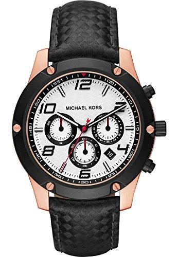Michael Kors Herren Armbanduhr Analog Quarz One Size weiss schwarz