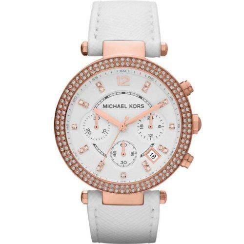 Michael Kors Damen-Armbanduhr Chronograph Quarz Leder MK2281