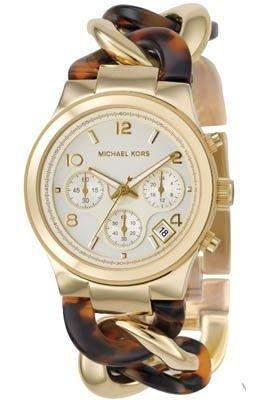 Micheal Kors Damen-Armbanduhr Chronograph Quarz Edelstahl MK4222