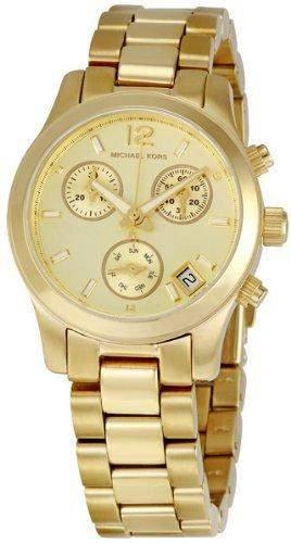 Michael Kors Damen-Armbanduhr XS Chronograph Quarz Edelstahl beschichtet MK5384