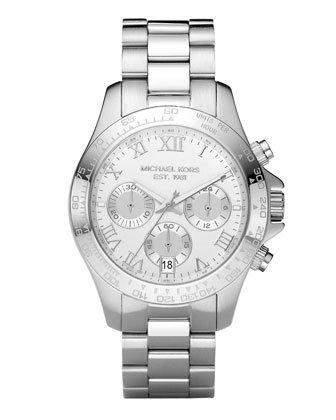 Michael Kors Damen-Armbanduhr Chronograph Quarz Edelstahl beschichtet MK5454