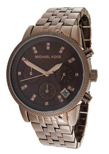 Micheal Kors Damen-Armbanduhr Chronograph Quarz Edelstahl beschichtet MK5547