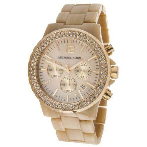 Micheal Kors Damen-Armbanduhr XL Chronograph Quarz Plastik MK5558