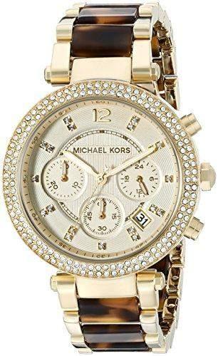 Micheal Kors Damen-Armbanduhr Chronograph Quarz Edelstahl MK5688